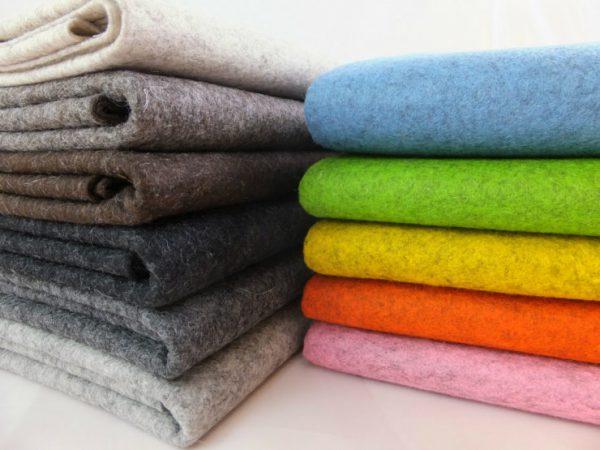 Ткани из шерсти разноцветные